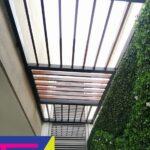 techo de Policarbonato y deck
